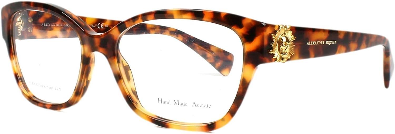 Alexander Mcqueen amq 42462IC, Designer Eyeglasses Caliber 53