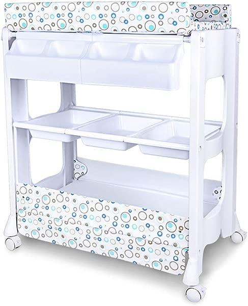 LGZW 婴儿换洗台婴儿收纳太空舱婴儿按摩站组织者梳妆台带浴缸婴儿梳妆台