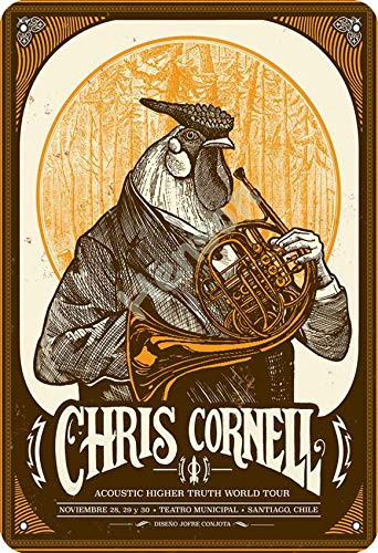 Henson Chris Cornell Vintage Tin Sign Logo 12 * 8 inches Advertising Eye-Catching Wall Decoration