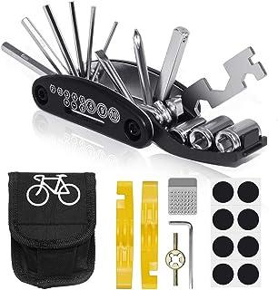 comprar comparacion VICKSONGS Kit de Herramientas para Bicicleta, 16 Set/Aleación Kit Pinchazos Bici, Herramienta de Reparación...