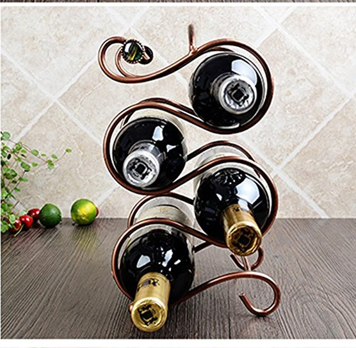 connotación de lujo discreta LYYHJJ ZHDC Creativo Vino Tinto Estante De Hierro Decoración Decoración Decoración Vino Estante Estilo Europeo De Multi-embotellado Inicio Multifunction (Color    2)  nueva gama alta exclusiva
