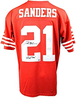 Deion Sanders Signed San Francisco 49ers Mitchell & Ness Retired Player Vintage Replica Jersey w/