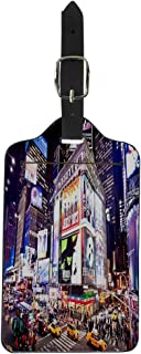 Luggage Tag New York January 6 Facades of Broadway Theaters Suitcase Baggage Label