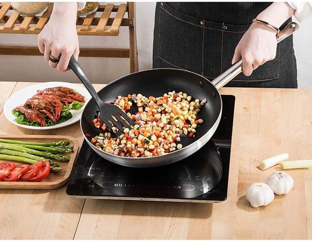 Pots de Cuisson Wok en Acier Inoxydable poêles à Frire antiadhésives adaptées à Toutes Les plaques de Cuisson, y Compris Les poignées à Induction Rester au Frais 36 CM 40cm