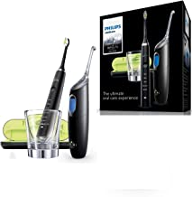 Philips Sonicare Diamond Clean Rechargeable Electric Toothbrush and Airfloss Ultra, Black