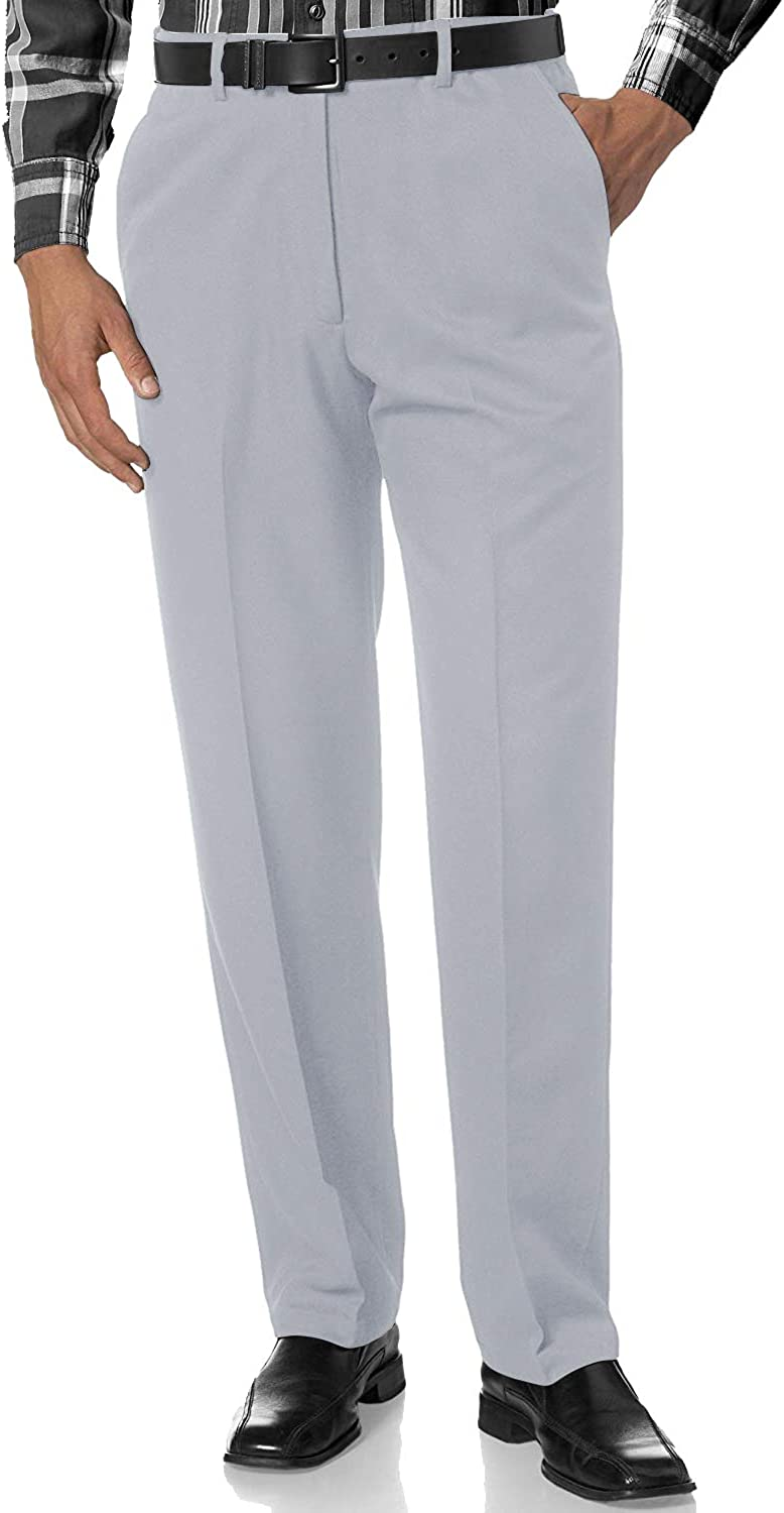 Match Max 42% OFF Men's Tapered Slim Fit Wrinkle-Resistant Pants Milwaukee Mall Dress #8078