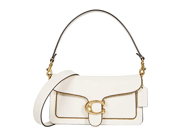 COACH Polished Pebble Leather with Beadchain Tabby Shoulder Bag 26