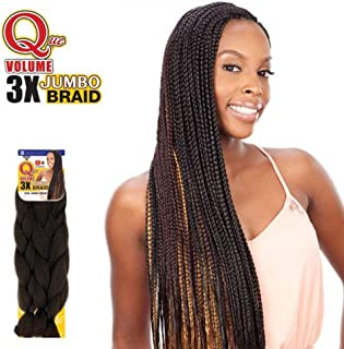 Shake N Go Que Volume 3X Tri Pack King Jumbo Braid Synthetic Hair (1B) - OFF BLACK