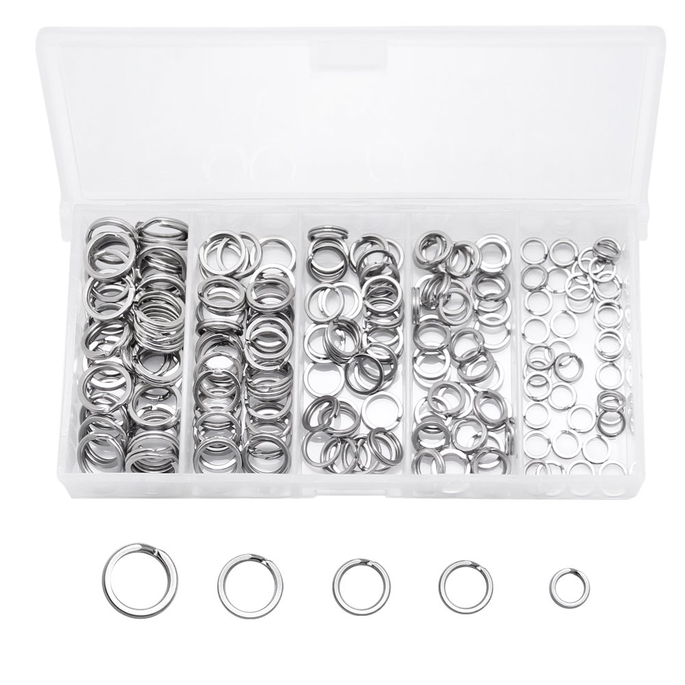 40 Pieces Round Flat Key Chain Rings Metal Split Ring for Home Car Keys Organization Silver 1 Inch 3// 4 Inch 1.25 Inch and 1.4 Inch