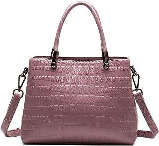 Yyqt Ladies Fashion Bag,Genuine Leather Satchel, Handbags for Women, Soft Leather Top-Handle Purses, Tote Bag, Shoulder Bag