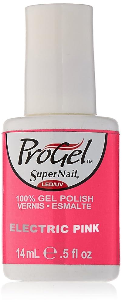 繁雑悪党手錠SuperNail ProGel Gel Polish - Electric Pink - 0.5oz/14ml