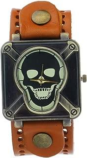 CLW Brand Retro Bronze Vintage Cow Leather Strap Rusty Copper Studs Belt Bracelet Wrap Band Antique Watches Ancient Men Wristwatch Ladies Dress Quartz Watch