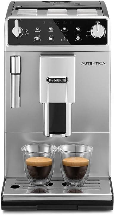 Macchina da caffè automatica per espresso e cappuccino de`longhi autentica etam29.510.sb