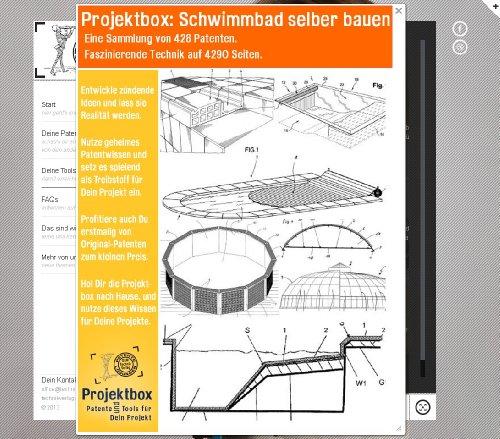 Schwimmbad selber bauen: Deine Projektbox inkl. 4290 Seiten Original-Patente bringt Dich mit Spaß ans Ziel!