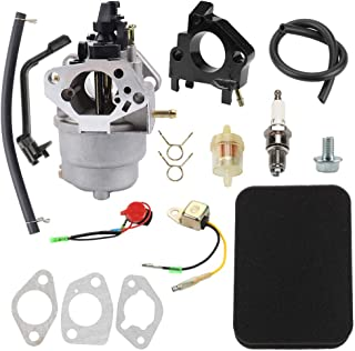 GP6500 Carburetor for Generac GP5500 GP6500 GP6500E GP7500E 389cc 8125W 13HP 14HP 15HP 16HP 188F 190F Portable Generator with Air Filter Tune Up Kit