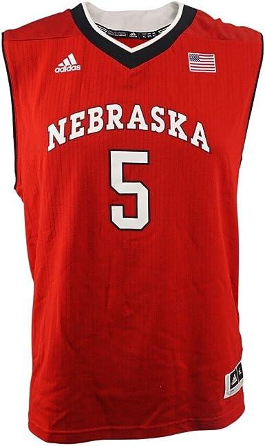 Amazon.com : adidas Nebraska Cornhuskers NCAA Red Official #5 Road ...