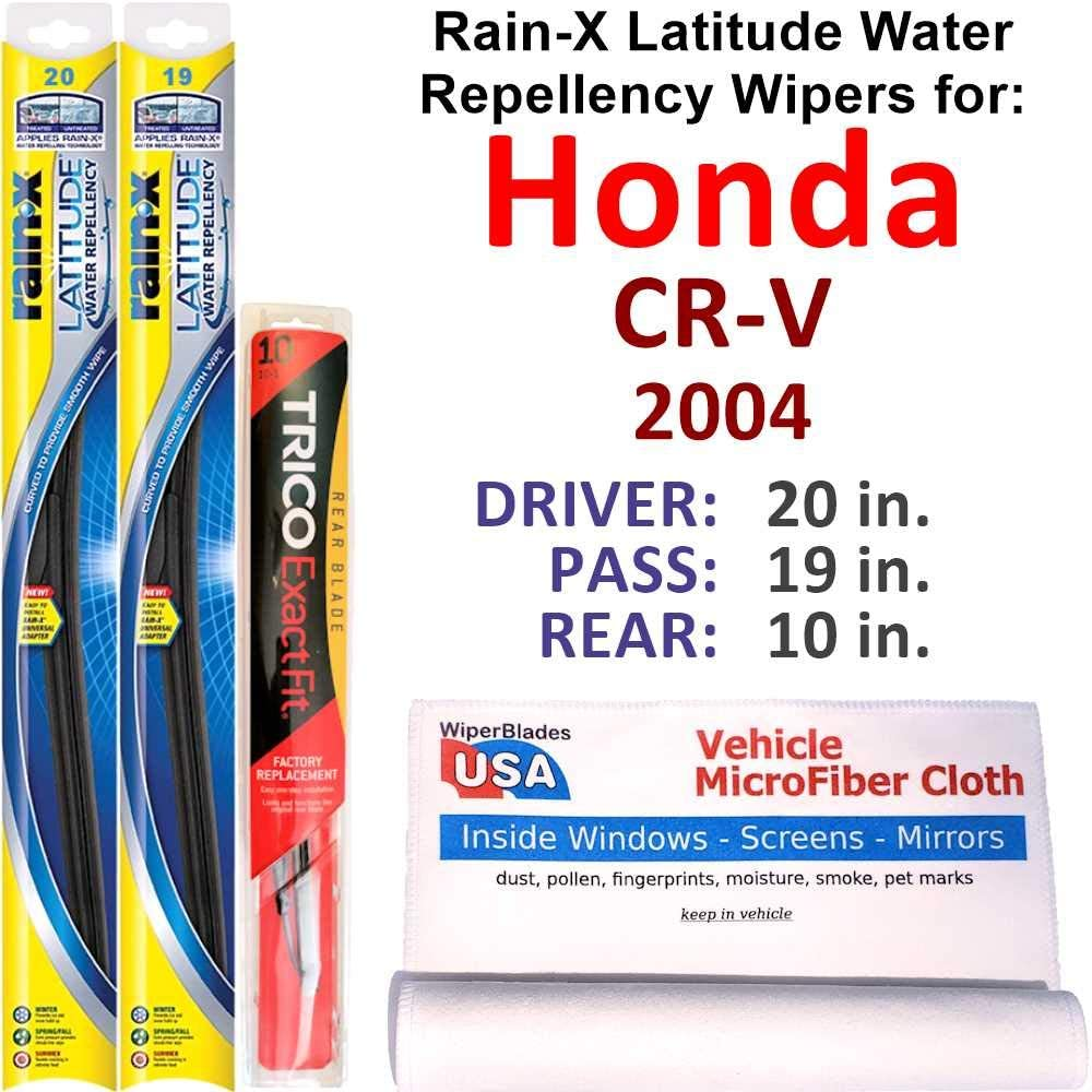 Rain-X Latitude Beam w SEAL limited product Water Challenge the lowest price of Japan ☆ Repellency Set for 2004 CR-V Honda