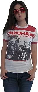 Women's Thom Yorke Radiohead Ringer T-Shirt Jersey White Red New