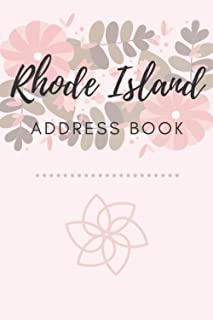 Address Book   Rhode Island: 6 x 9 Inches   208 Entries   104 Pages   Contact Book   Alphabetical with Letter on Each Page...
