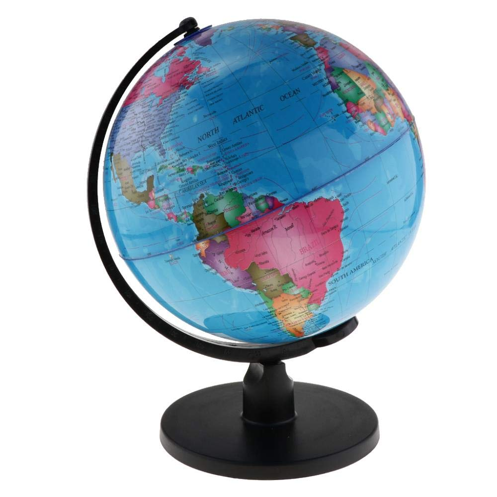 LDCP World Map Globe Spinning Interactive World Globe Niños ...