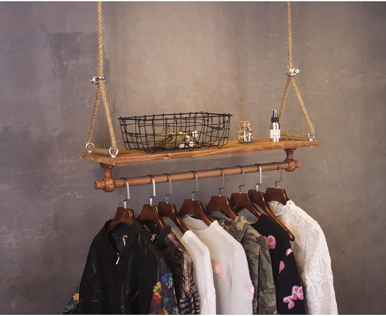 Hangers Display Clothing Store Retro Wooden Hanger Women Clothing Store Renovation Shelves