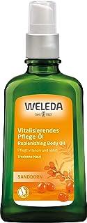 WELEDA Sanddorn Vitalisierendes Pflege-Öl, Naturkosmetik Körperöl für die intensive Pflege von trockener Haut, Body Öl für spürbare Glätte und Erholung der Haut 1 x 100 ml