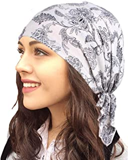 HADM Adjustable Women Cotton Bandana Scarf Pre Tied Chemo Hat Beanie Turban Headwear for Cancer Patients Ladies Turbante