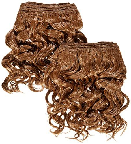 chear espagnol Wave 2 en 1 trame Extension de cheveux humains avec de mélange tissage numéro 30 Auburn Moyen, 20 cm