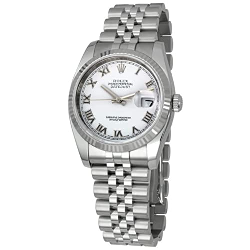 Rolex Mens New Style Heavy Band Stainless Steel Datejust Model 116234 Jubilee.
