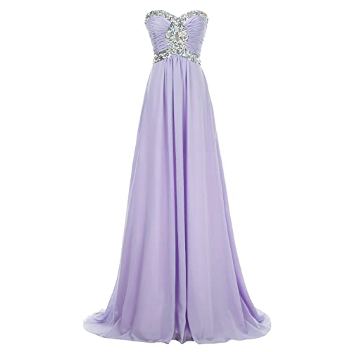 bd88c9df81d82 Erosebridal Long Chiffon Prom Dress Evening Gown for Women Crystal Beaded Bridesmaid  Dress