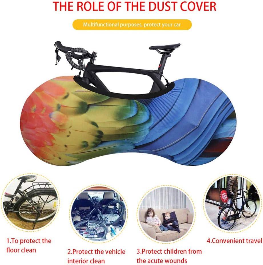 Funda El/ástica Universal De Bicicletas para Almacenamiento En Interiores Funda Bici para Interiores Protector De Polvo para Bicicleta De Monta/ña MHGLOVES Funda Bicicleta Decorativas 160X55cm