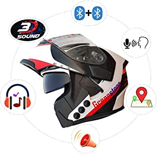 Green Stone G6 Flip-Up Smart Dual Bluetooh Helmet with Voice Assistance Large 600mm
