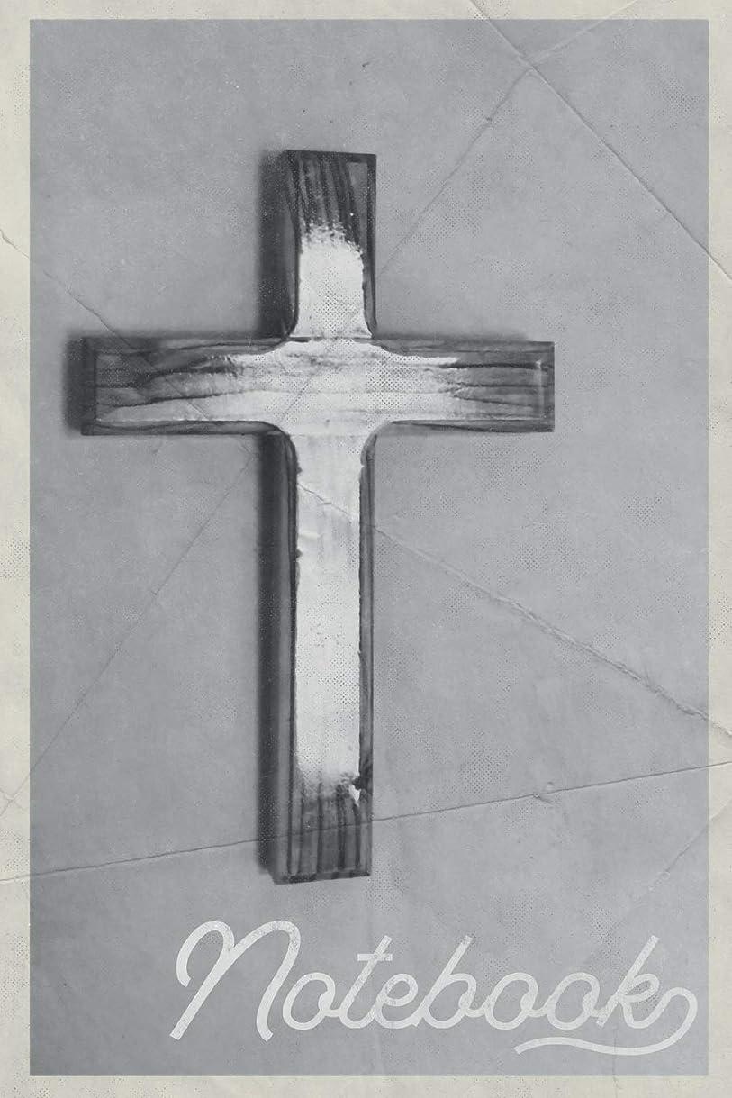 情熱的魚忙しいNotebook: Holy Cross Useful Composition Book Journal Diary for Men, Women, Teen & Kids Vintage Retro Design Small Bible Study Groups