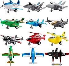 deAO Set Aerei Giocattolo di Attrito 12 Figure da Collezione Piccola Scala Assortimento di Aeromobili ed Elicotteri Inclusi