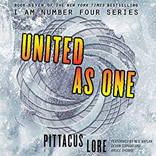 United as One                   By:                                                                                                                                 Pittacus Lore                               Narrated by:                                                                                                                                 Neil Kaplan,                                                                                        Devon Sorvari,                                                                                        Bruce Thomas                      Length: 12 hrs     2,413 ratings     Overall 4.6