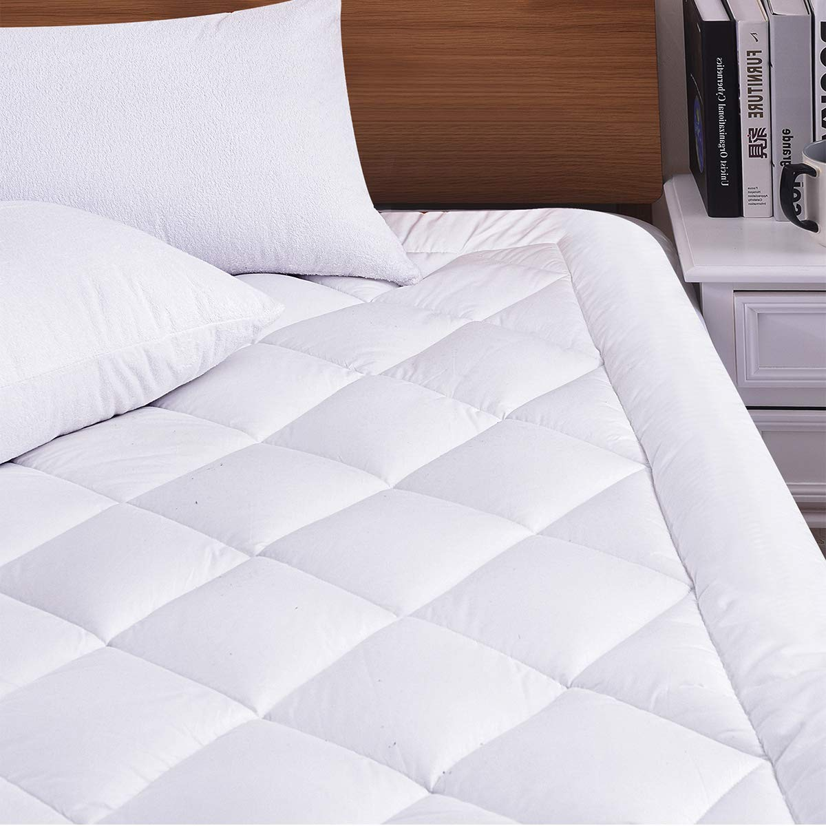 Hokly Pad Topper Hypoallergenic Cover Alternative Thickness