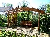 G&C Sophie – Pergola aus Holz mit gewölbtem Dach und