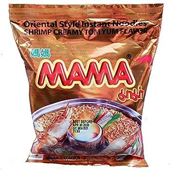 Mama Oriental Style Instant Noodles Shrimp Creamy Tom Yum Flavor  10 Pack