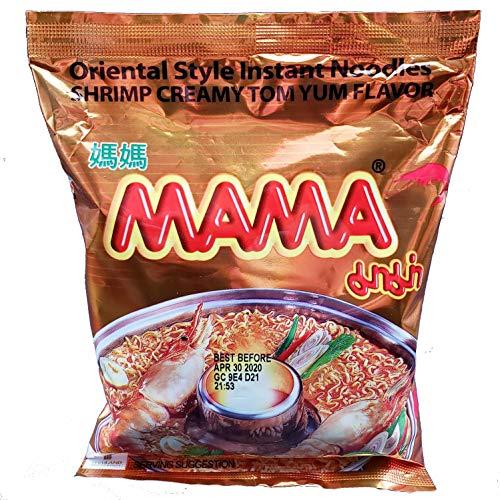 MAMA Tom Yum Creamy Shrimp Ramen Style Instant Oriental Noodles (30 Pack)
