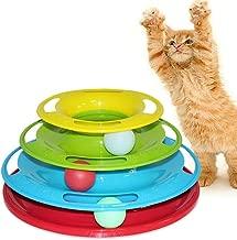 Gatos Pelotas de juguete Gatos Crazy Ball Juguete interactivo para IQ Traning Gato divertido Juguetes para mascotas Juguetes para gatos Inteligencia Colorido 27x13x17_0 0
