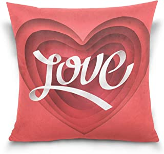 IDO Throw Pillow Covers Valentine's Day Concept Polyester Square Hidden Zipper Decorative Valentine's Day Present/Gift Pillowcase 20
