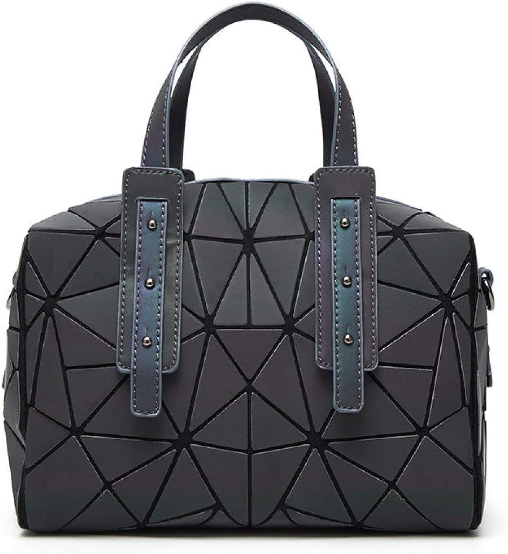 Willsego Luminous Chaos Triangle Matte Portable Gradient Kissen Tasche Raute Nähte Handtaschen Umhängetasche (Farbe   Schwarz, Größe   Einheitsgröße) B07KP6VW7Y  Hohe Qualität und günstig