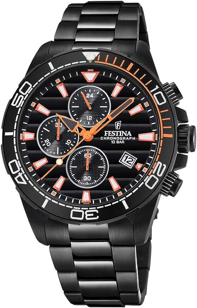 Festina orologio cronografo uomo in acciaio inossidablie F20365/1
