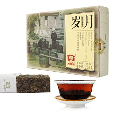 TAETEA Time and Tide Ripe PU'ER Brick TEA