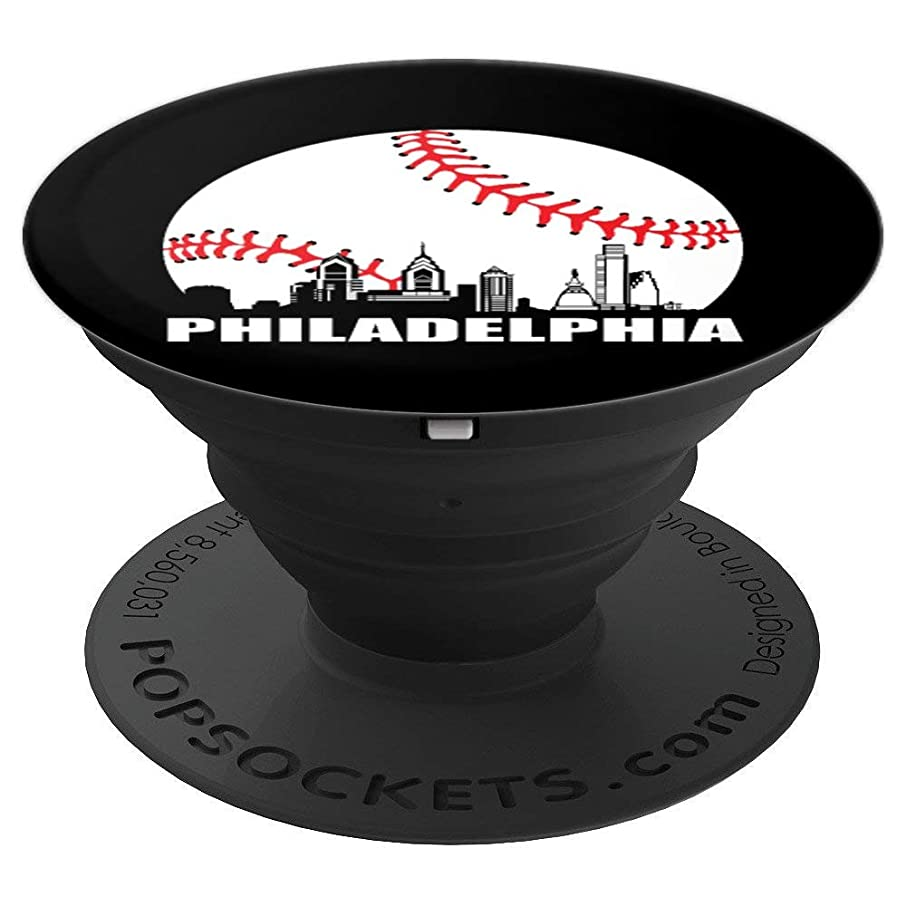 Philly Downtown Philadelphia Shirt Baseball Skyline PopSockets Grip and Stand for Phones and Tablets
