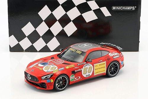 Minichamps 155036024 1 18 2017 Mercedes AMG GT-R-ROTE SAU, Multi