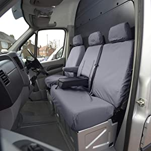 Custom Covers SC132G Tailored Heavy Duty Waterproof Front Seat Covers Grey