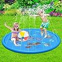 "Forliver 68"" Sprinkle & Splash Water Play Mat"