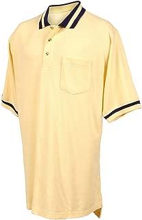 Tri-Mountain Men's Short Sleeve 3-Button Contrast Collar Pique Knit Pocket Golf