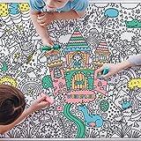 Ausmaltischdecke Kinder XXL | Thema: Fantasie Märchen Wunderland | Papier Maldecke Größe A0 zum Bunt Ausmalen | Mal-Spaß für Mädchen & Jungen